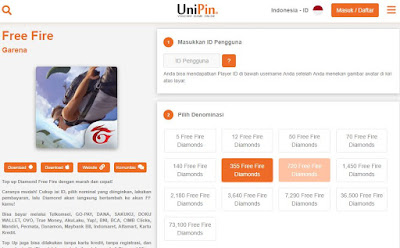 Top Up Diamond FF Unipin