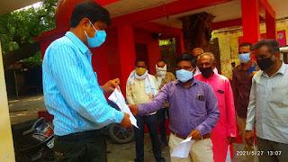 """एनवीडीए विभाग के विरुद्ध एसडीएम को """"भारतीय किसान संघ"""" द्वारा ज्ञापन सोपा गया"""
