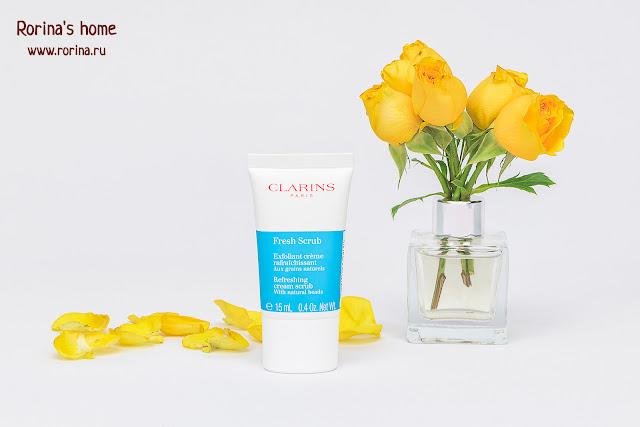 CLARINS Освежающий отшелушивающий крем для лица Fresh Scrub: отзывы