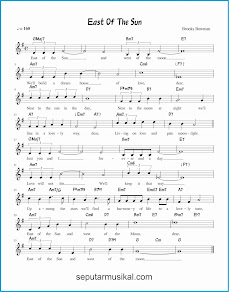 chord east of the sun lagu jazz standar