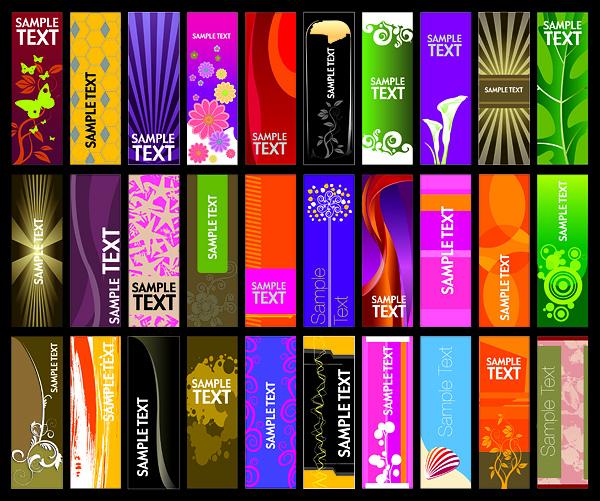 30 vector vertical banner templates Free vector