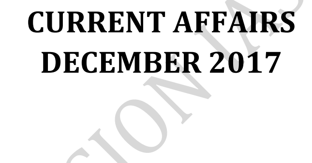VisionIAS December 2017 currrent affairs magazine pdf download