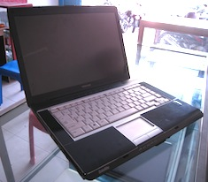 jual laptop 2nd toshiba satellite a215