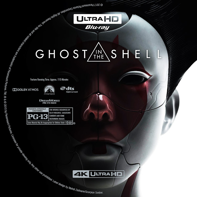 Ghost In The Shell 4K Bluray Label
