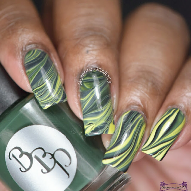 Watermarble Wednesdays: Green, Yellow & Black