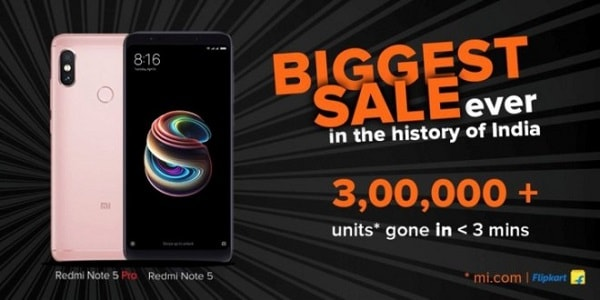 xiaomi sold 30 thousand Redmi Note 5 Pro phones every second