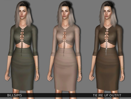 S3 Tie Me Up Outfit by Bill Sims
