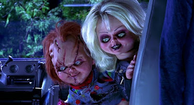"Brad Dourif and Jennifer Tilly plan their murder spree as Chucky and Tiffany in ""Bride of Chucky"" (1998)"