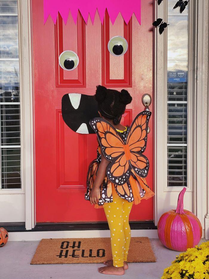 Our Halloween Monster Door -2021 Edition- designaddictmom