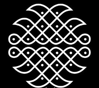 simple indo Dot rangoli design