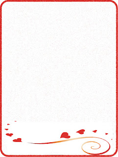 bordes para cartas de amor, bordes para cartas de declaración, bordes rojos de corazones