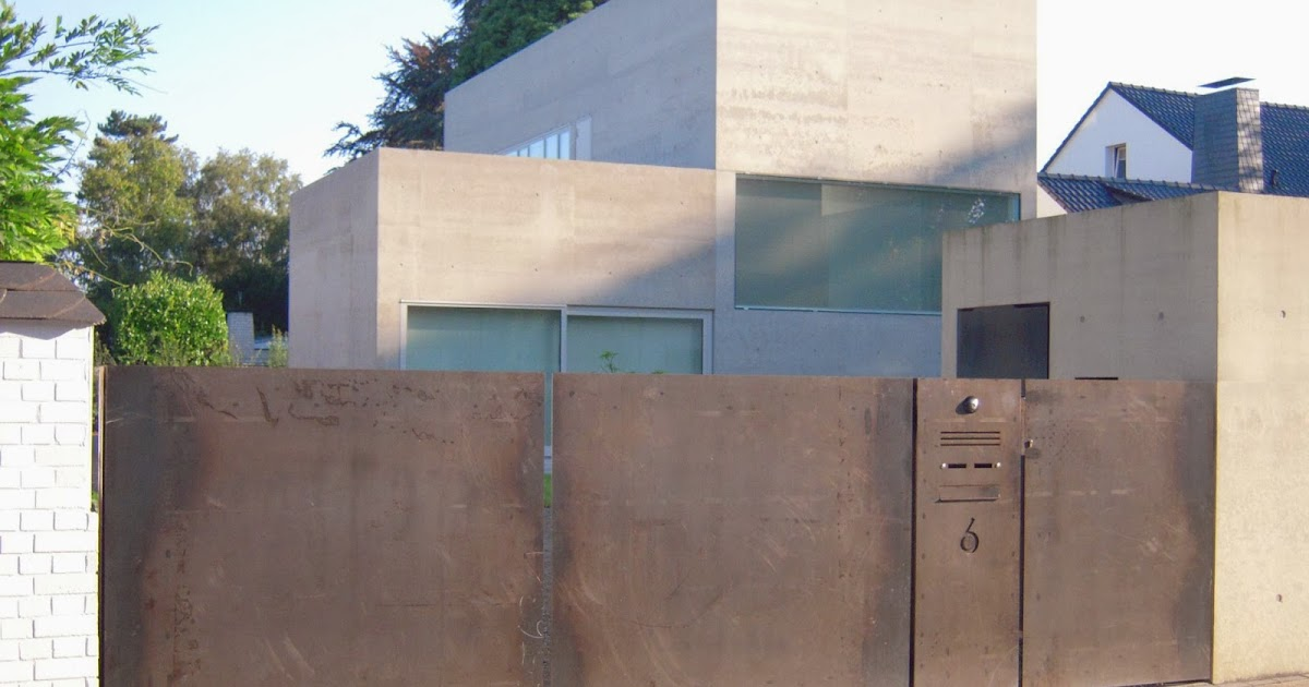 fr bel metallbau toranlage aus cortenstahl. Black Bedroom Furniture Sets. Home Design Ideas
