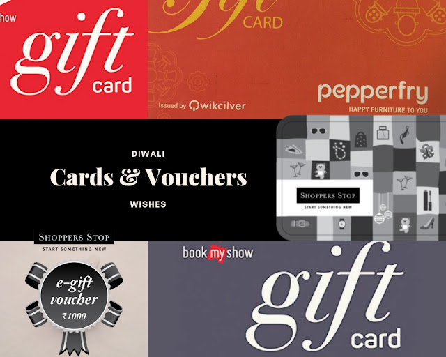 Cards and Vouchers as Diwali Gifts