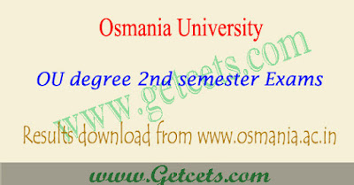 OU degree 2nd sem results 2018-2019 1st year Manabadi