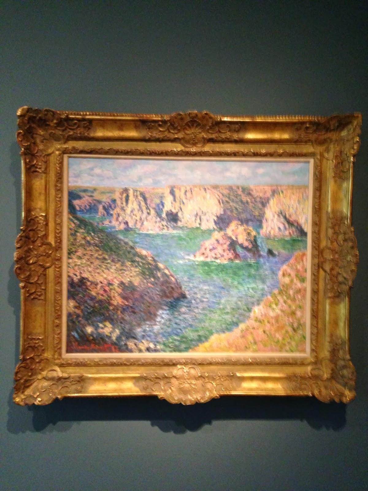 the museum experience fall 2013 photo essay 1 yale art gallery claude monet port domois belle ile 1887
