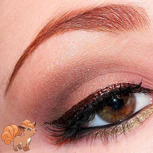 maquillaje ojos pokemon go : Vulpix