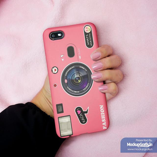 Mockup Custom Case 3D Oppo A1K