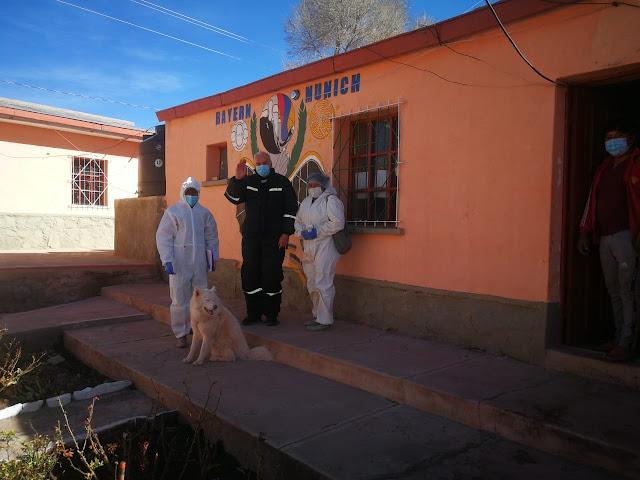 Rastrillage Vom puesto sanitario aus werden die Familien in Esmoraca besucht, Fieber gemessen etc