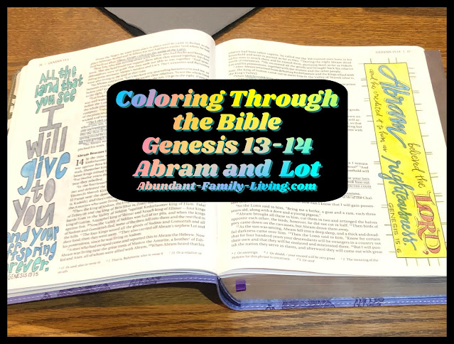Coloring Through the Bible, Abram and Lot, Genesis 13-14