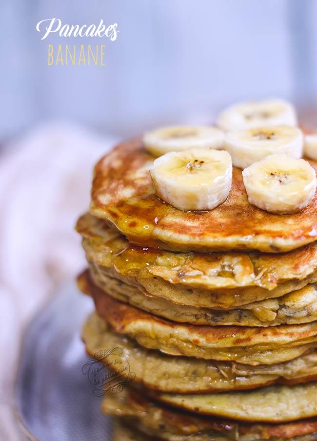 Recette Pancakes Banane Avoine : recette, pancakes, banane, avoine, Pancakes, Banane, Healthy, Sucre, était, Pâtisserie