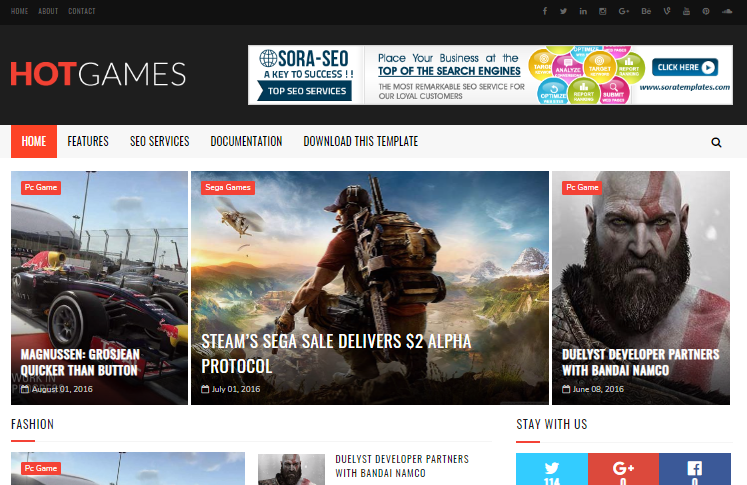 Hot-Games-Gaming Blogger Template