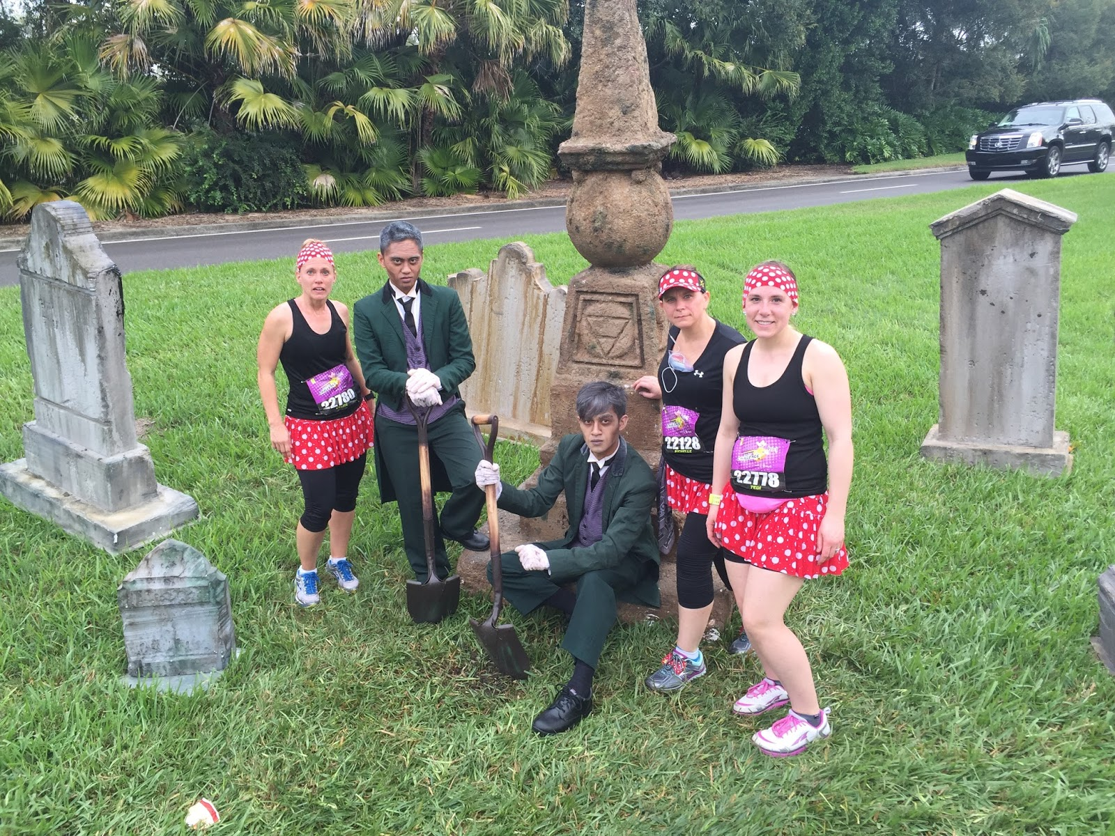 Dopey Challenge Mickey Marathon 2016 Not digging our graves I hope