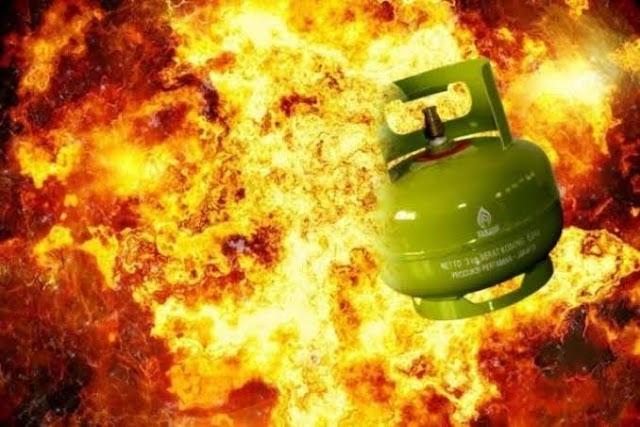Tabung Gas Meledak, 4 Orang Alami Luka Bakar