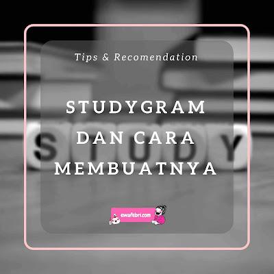 studygram indonesia dan cara membuat studygram