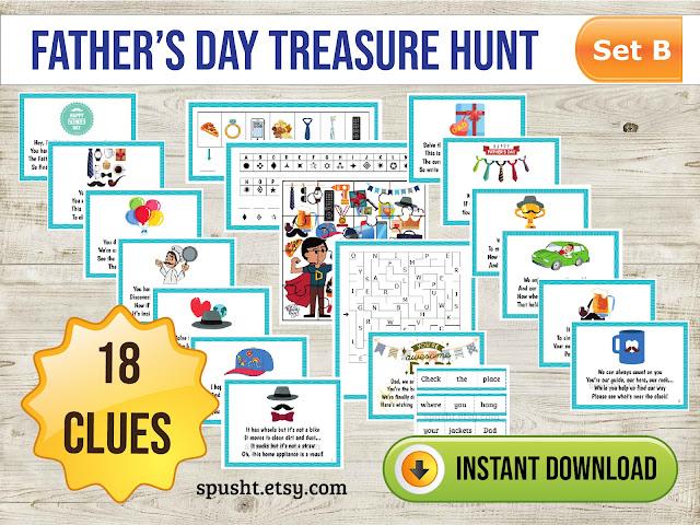 fathers day celebration treasure hunt
