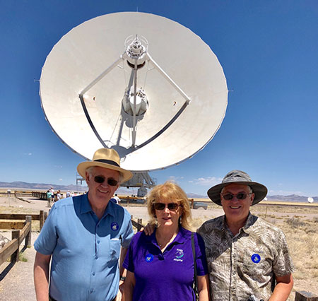 Resident Astronomer and two other OCA members, Scott and Sandy, tour the VLA (Source: Palmia Observatory)