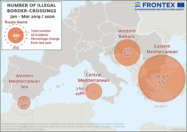 Į ES atvykstančių nelegalų padaugėjo 26%, bet ES ruošia Dublin IV susitarimą ir naują migracijos bangą