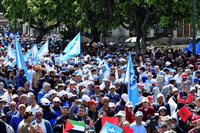 صورة لتظاهرة الاتحاد المغربي للشغل