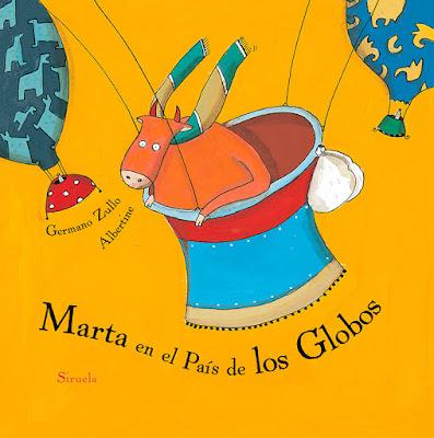 Portada del álbum ilustrado de Albertine Marta en el País de los Globos