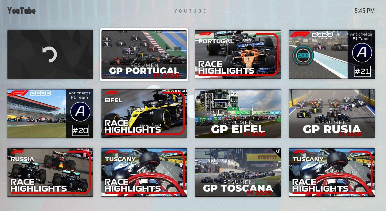 Resumen carreras Formula 1