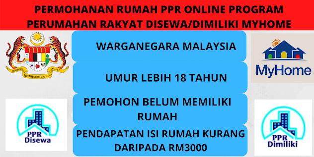 Permohonan Dibuka Permohonan Rumah Ppr Online Program Perumahan Rakyat Disewa Dimiliki Myhome