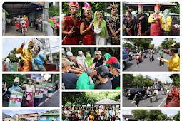 Meriah dan Berwarna, Pawai Budaya Tutup Kampanye SALAM di Kota Mataram
