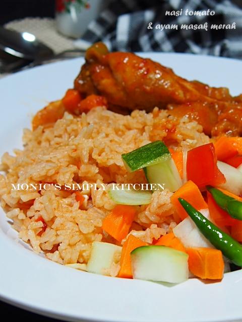 cara buat nasi tomato ayam masak merah