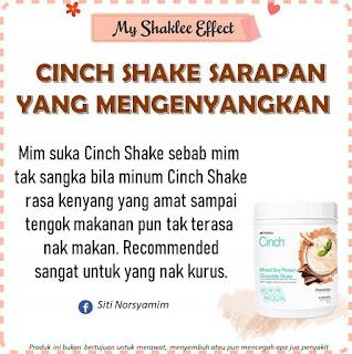 Testimoni Cinch Shake Shaklee