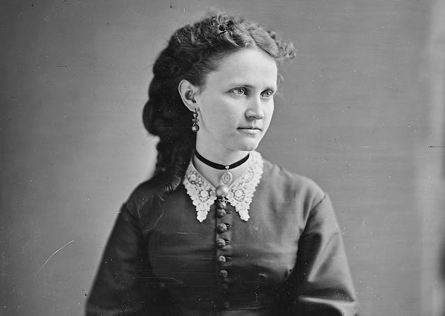 Miss Walton, in a portrait taken by photographer Mathew Brady.