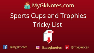 Sports Cups and Trophies Tricky List PDF