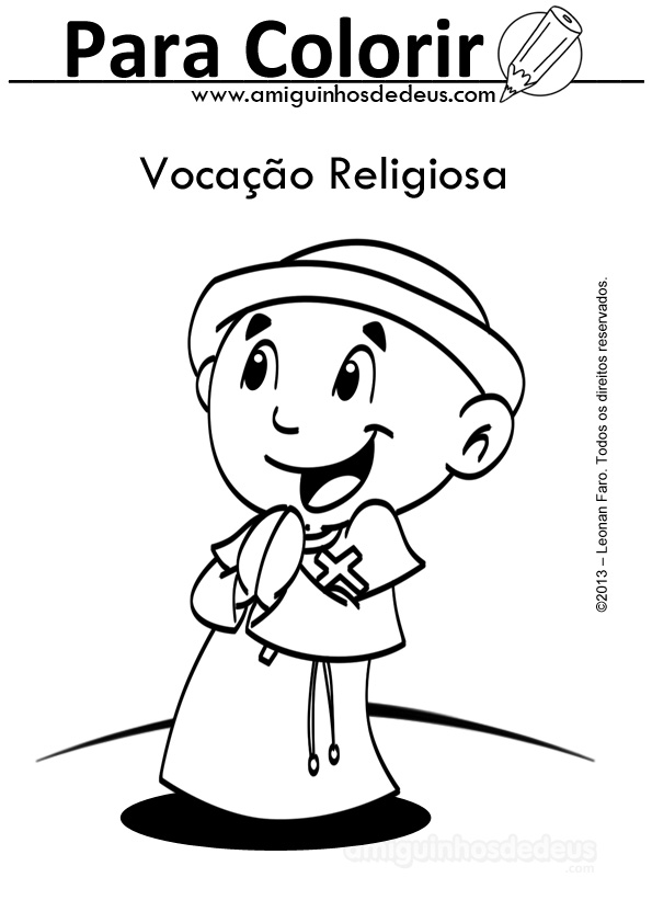 Vocacao Religiosa Para Colorir Amiguinhos De Deus