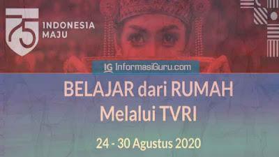 Jadwal BDR Minggu Ke-20 di TVRI Tanggal 24-30 Agustus 2020