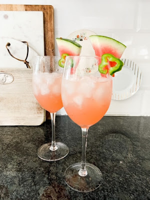 Margaritas with watermelon and jalapeno