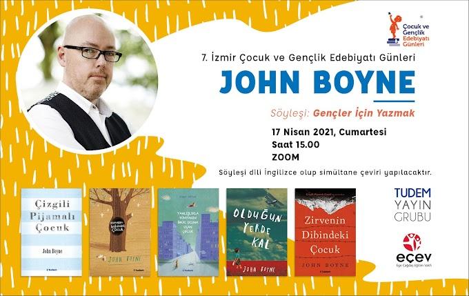 John Boyne, 7. İzmir Çocuk ve Gençlik Edebiyatı Günleri'nde!