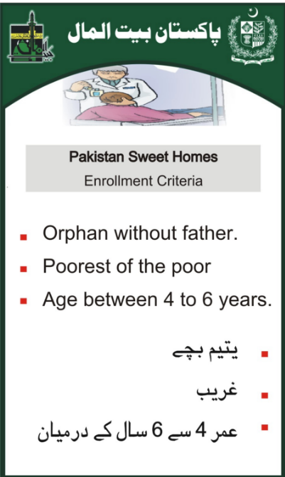 Pakistan Bait-ul-Mal Sweet Home Download Application Form