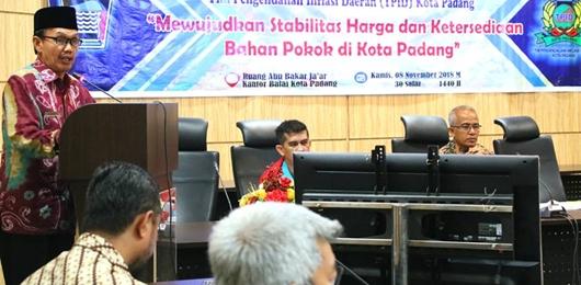 TPID Padang Upayakan Jaga Inflasi Sampai Akhir Tahun