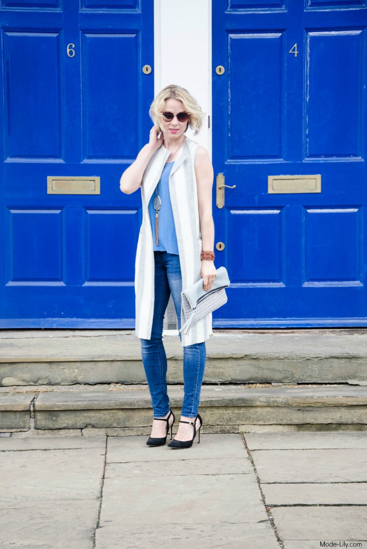 Outfit Post: Fashion Trend Sleeveless Jacket