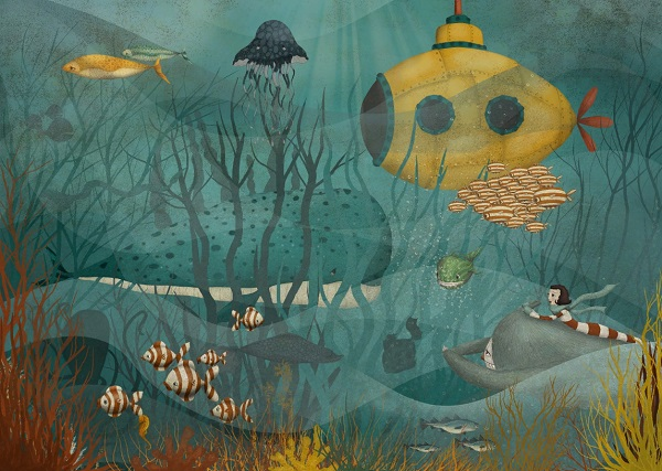 por Maja Lindberg | ilustraciones imaginativas infantiles divertidas, sentimientos y emociones, imagenes bonitas, illustration art, cool stuff.