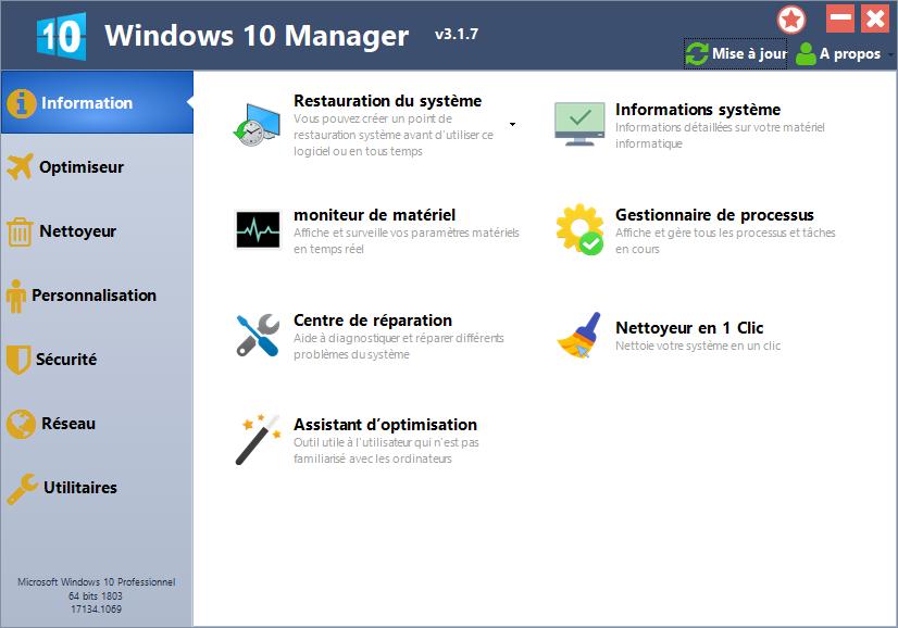تحميل أفضل برنامج مصمم خصيصًا لويندوز 10 اتسريع وتحسين النظام Yamicsoft Windows 10 Manager 3.1.7