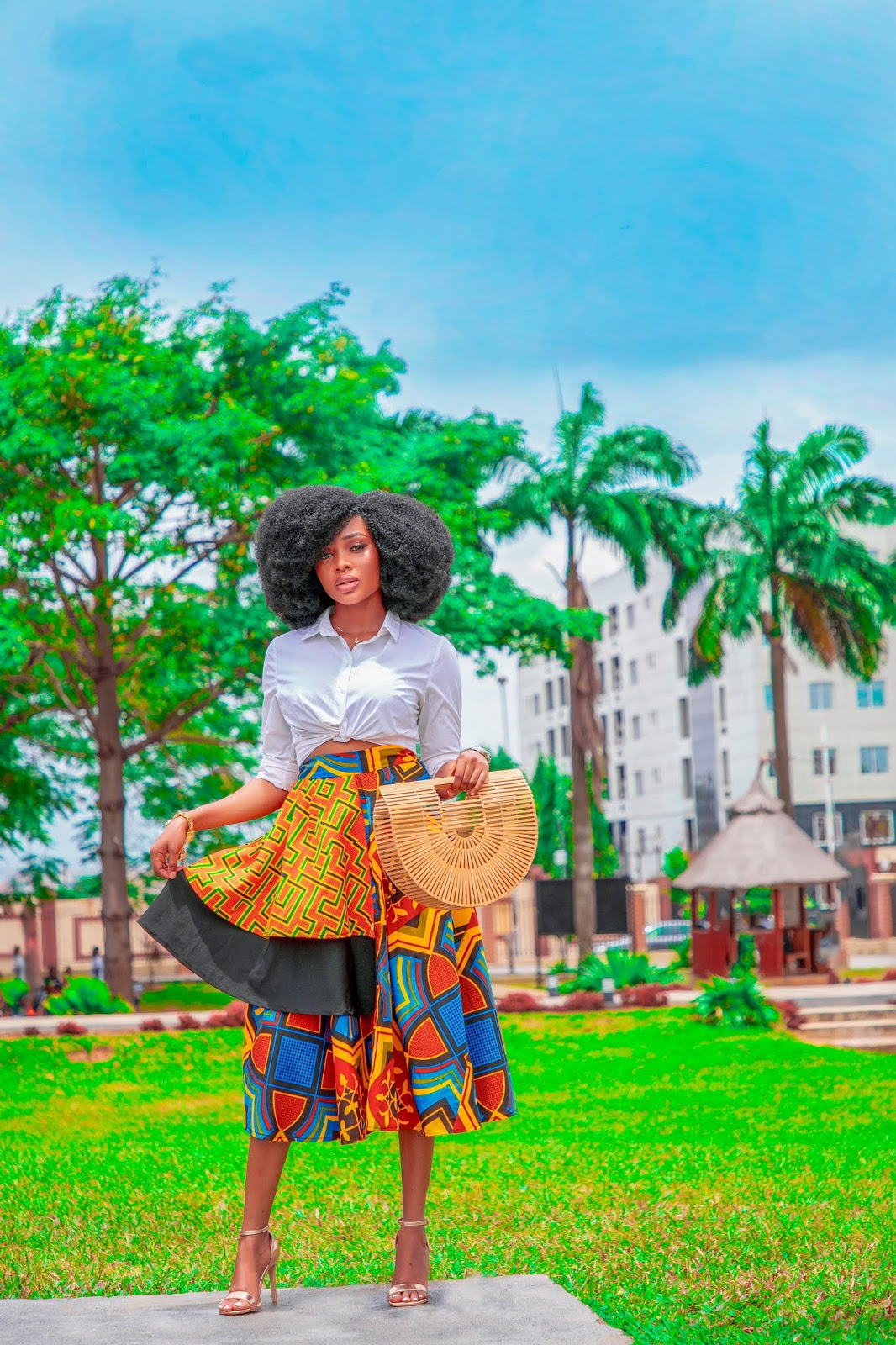 How to style your ankara skirt